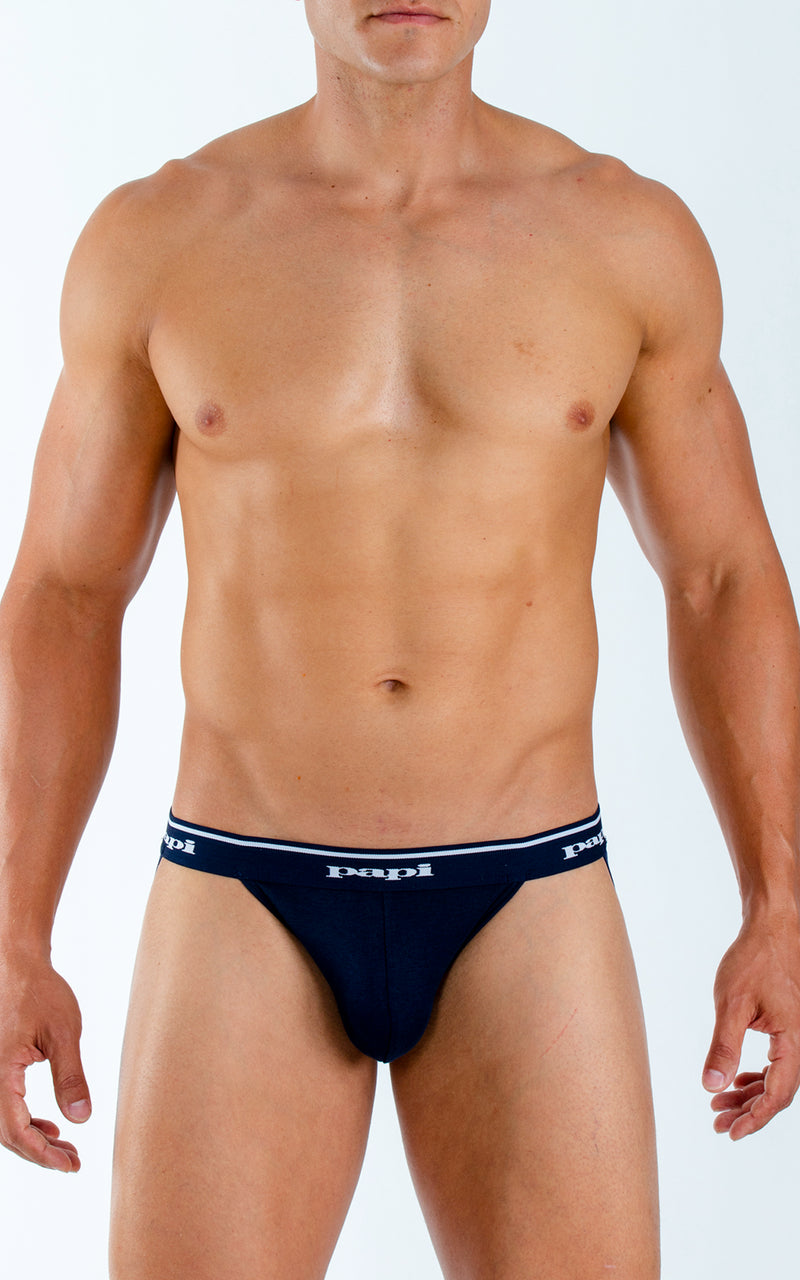 3-Pack Cotton Jockstrap (Blue)