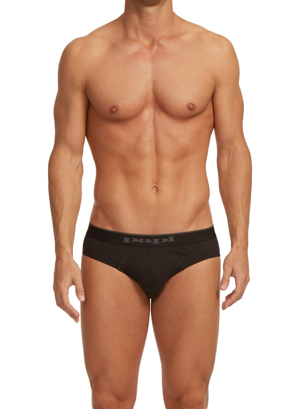 3-Pack Cotton Stretch Briefs (Black)