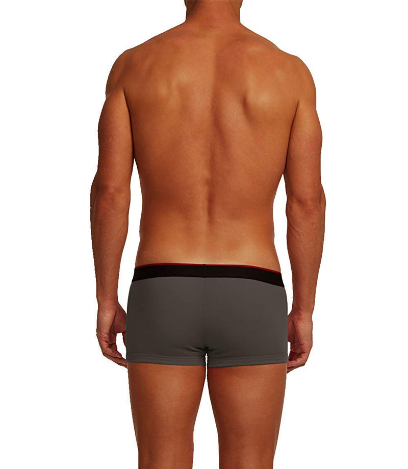3-Pack Cotton Stretch Solid Trunks (Black/Red)