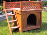 Room with a View Wooden Dog House - Pet Possibilities - 3