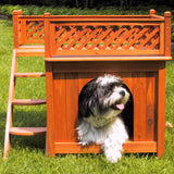 Room with a View Wooden Dog House - Pet Possibilities - 2
