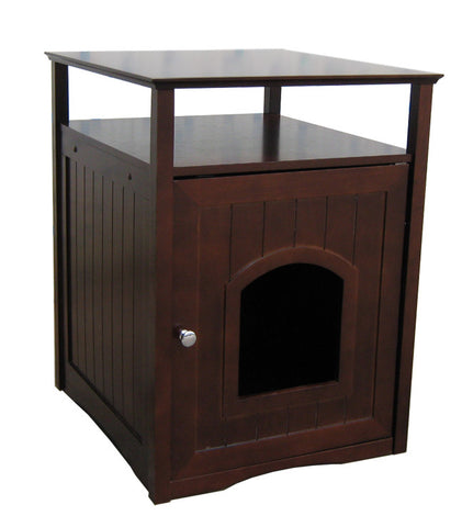 Walnut Cat Washroom - Pet Possibilities - 1