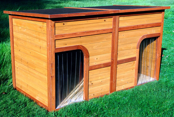 Flat Top Duplex Dog House Pet Possibilities