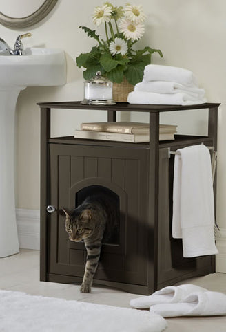 Espresso Cat Washroom - Pet Possibilities