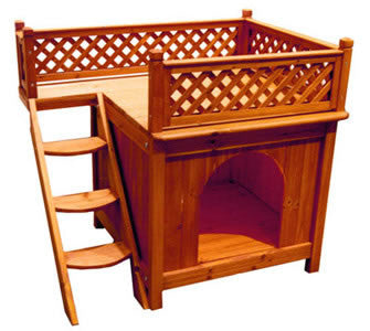 Room with a View Wooden Dog House - Pet Possibilities - 1