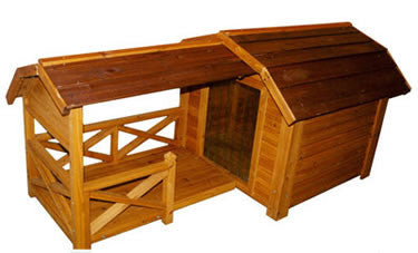 The Barn Wooden Dog House - Pet Possibilities - 1