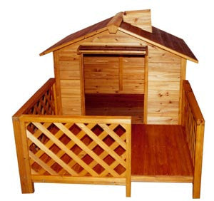 The Mansion Wooden Dog House - Pet Possibilities - 1