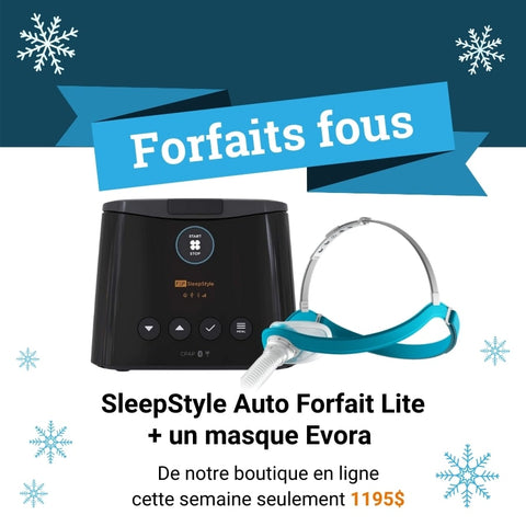 Auto CPAP SleepStyle with an Evora mask