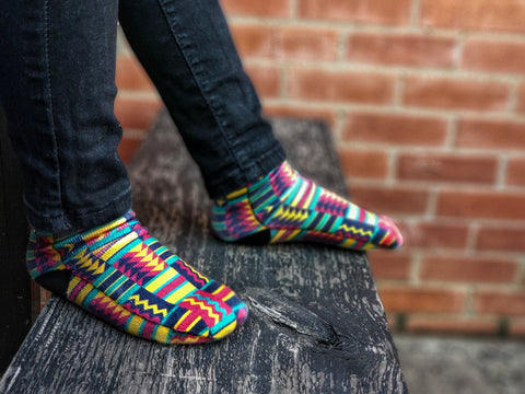 African Kente Style Socks - Sweet Reasons