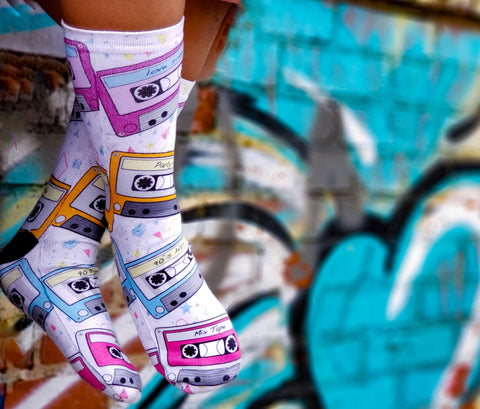 Cassette Tape Socks - Sweet Reasons