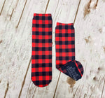 Classic Red Buffalo Plaid Socks - Sweet Reasons