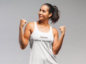 Sweat Over Swagger Tank (Women) - So Swag Apparel