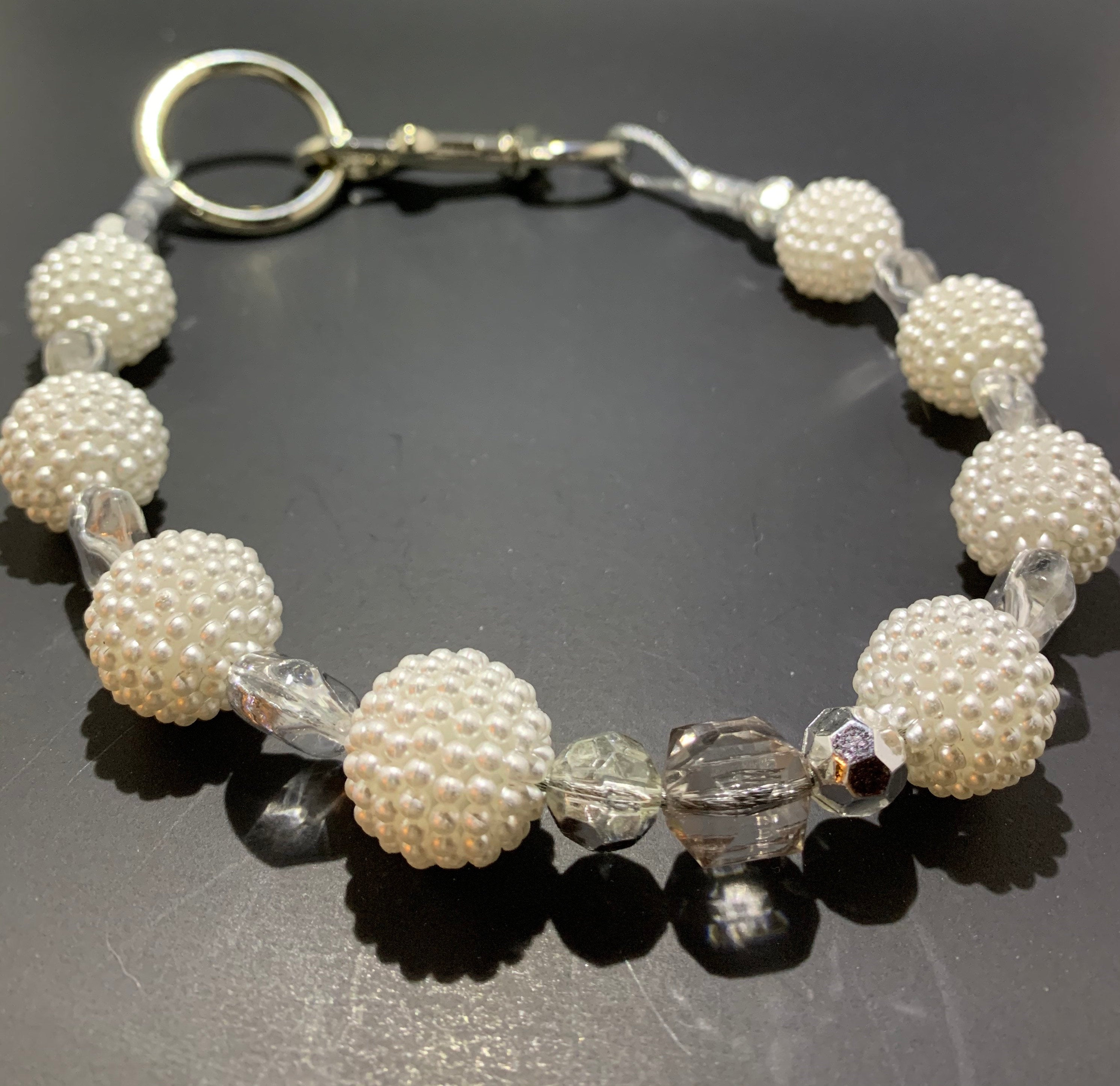 Diamonds and Pearls dog collar - So Swag Apparel
