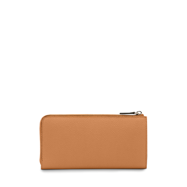 Slim Zip Wallet - Camel
