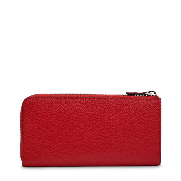 Slim Zip Wallet - Red Lancel