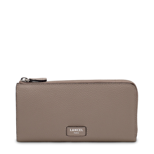 Slim Zip Wallet - Linen