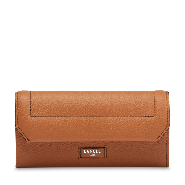 Slim Flap Wallet - Camel