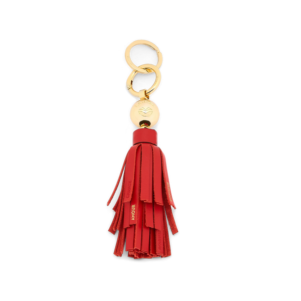 Lancel Wings Tassel Keyring - Red Lancel