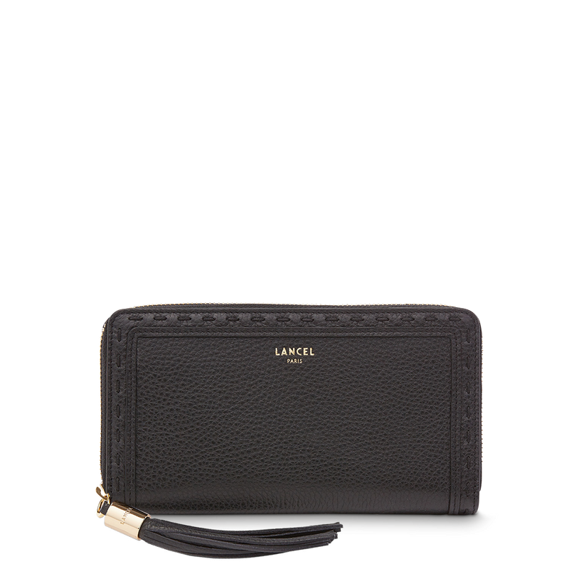 Long Zip Wallet - Black