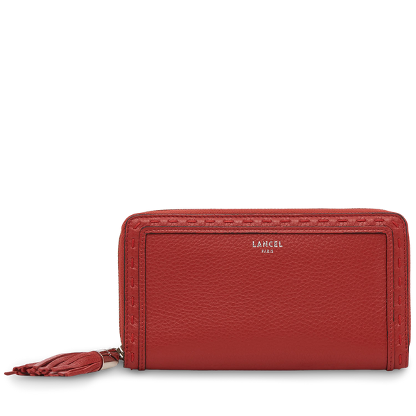 Long Zip Wallet - Red Lancel