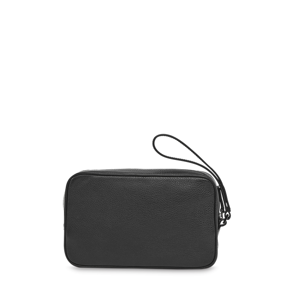 Clutch With Wristlet - Black