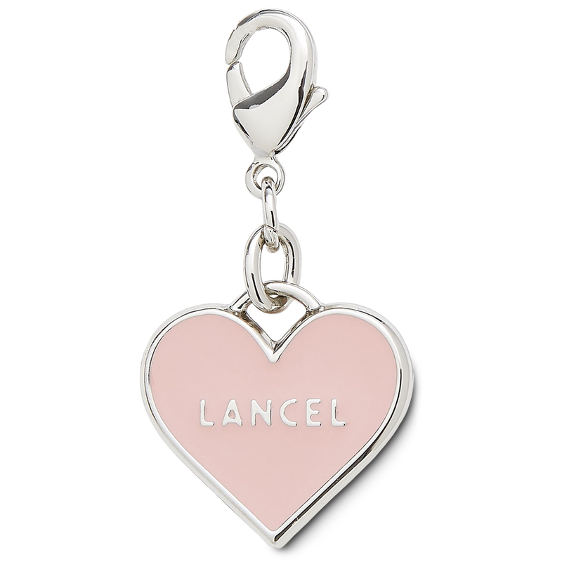 ENAMEL HEART CHARM SHINY NICKEL FINISH