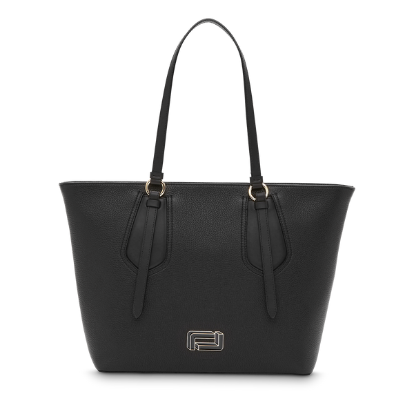 M Zip Tote Bag - Black