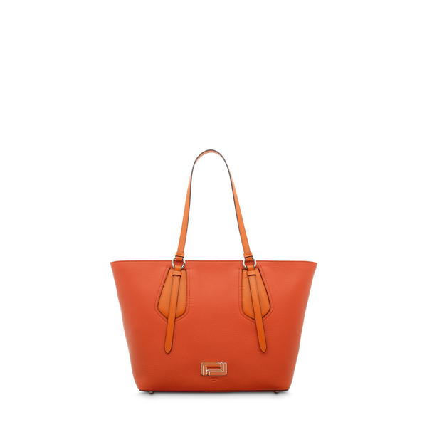 M Zip Tote Bag - Papaya