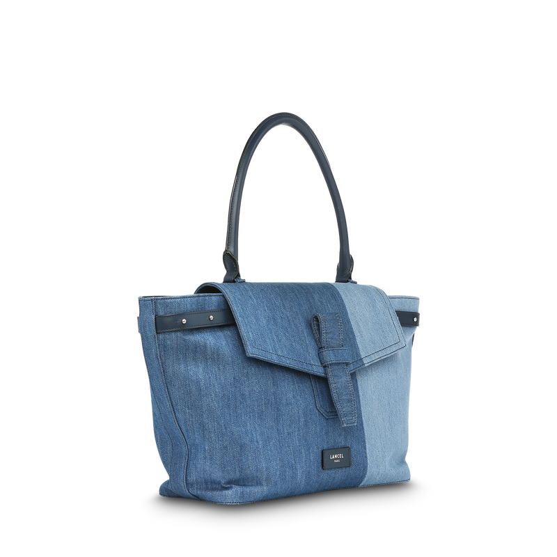 L Shoulder Bag - Denim