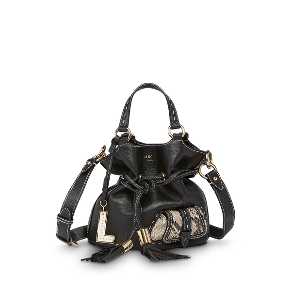 S Bucket Bag - Black/Roccia