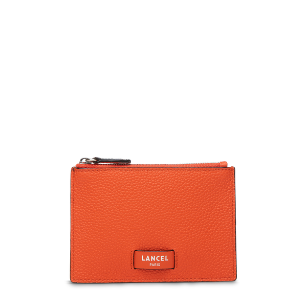 L Zip Card Holder - Papaya