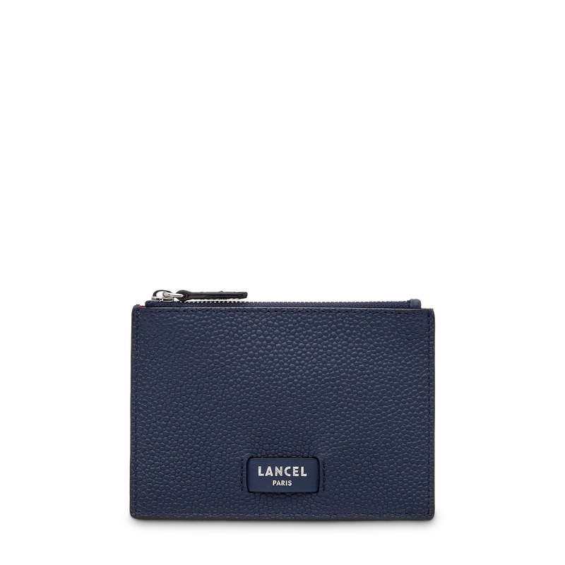 L Zip Card Holder - Petrol Blue