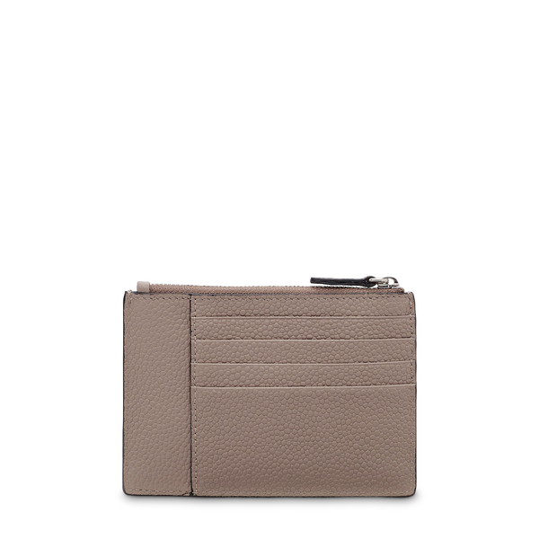L Zip Card Holder - Linen