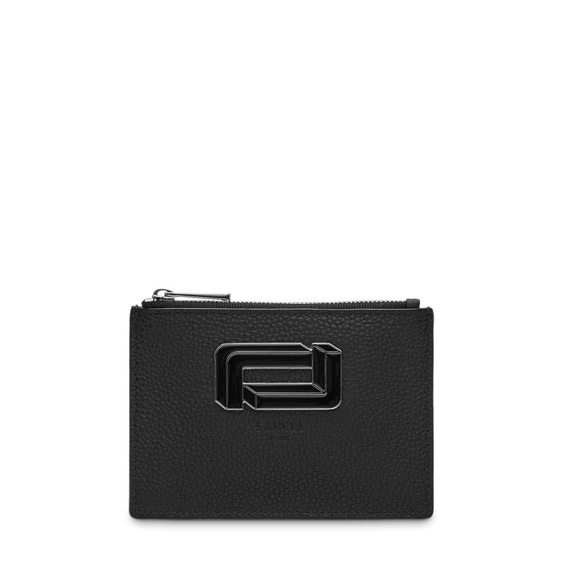 L Zip Card Holder - Black