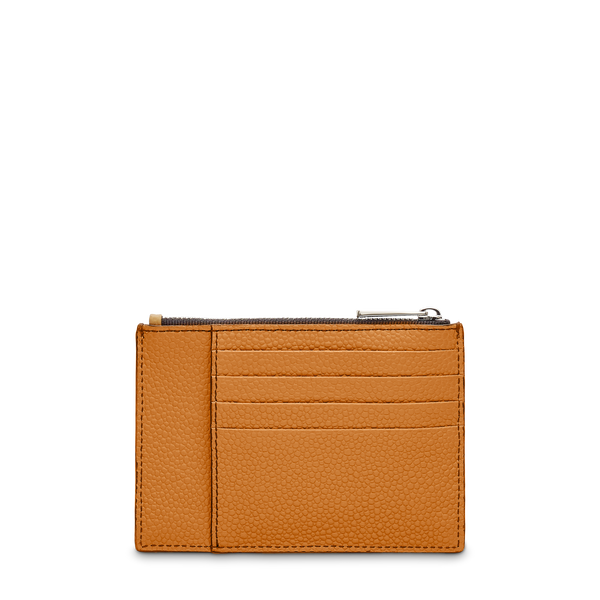 L Zip Card Holder - Camel