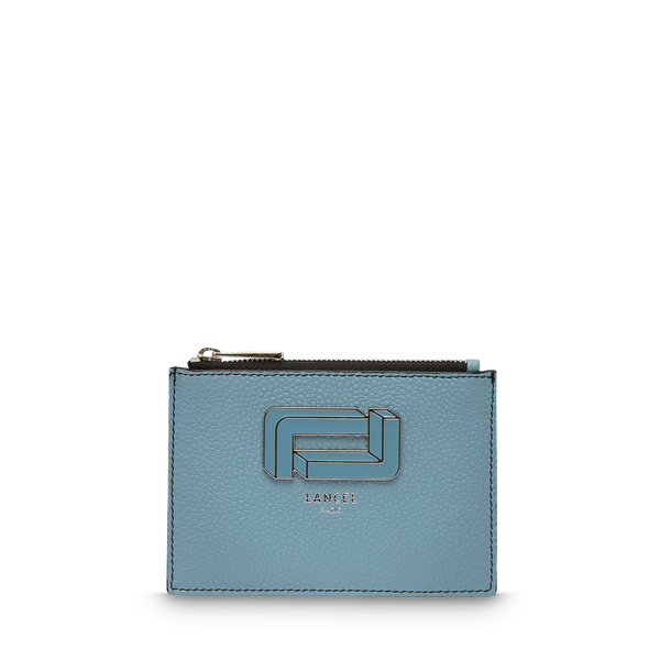 L Zip Card Holder - Cloud