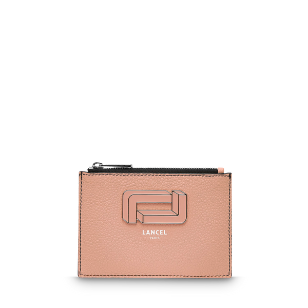 L Zip Card Holder - Sunset Pink