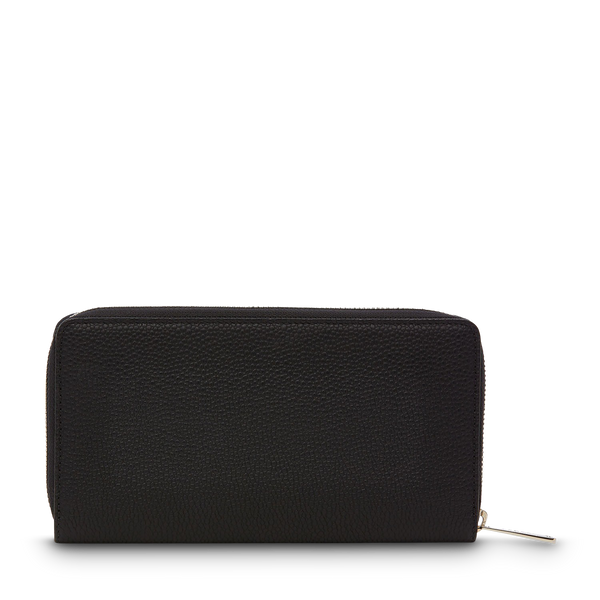 Slim Zip Wallet - Black