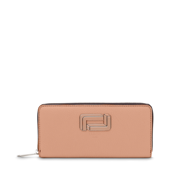 Slim Zip Wallet - Sunset Pink