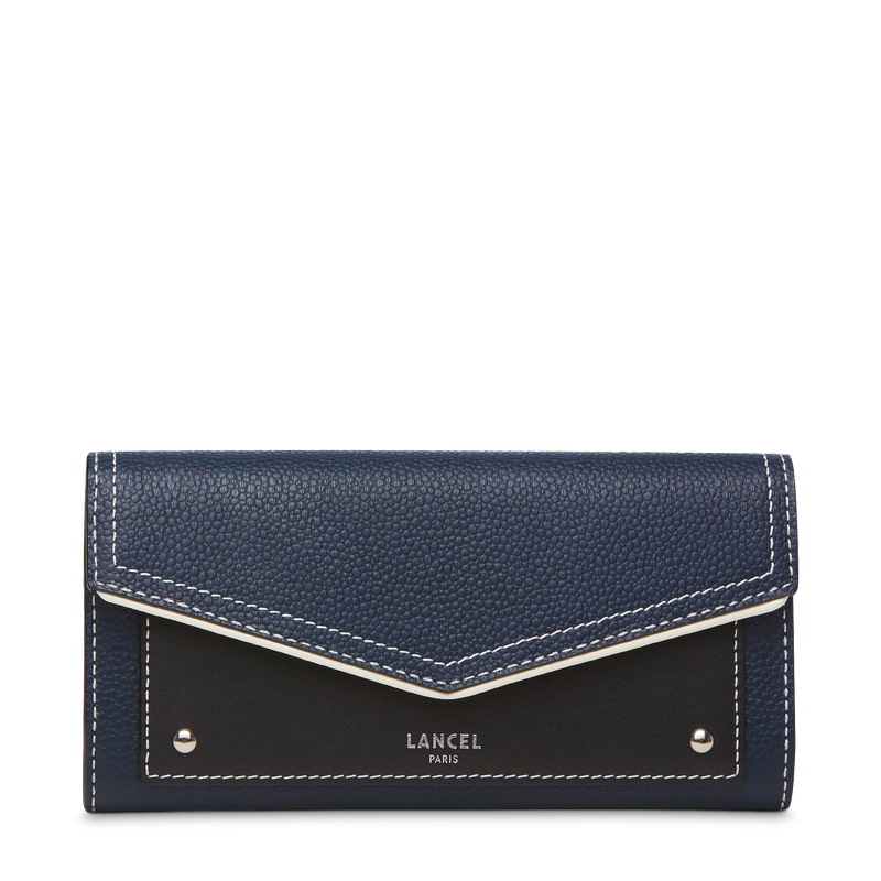 Slim Flap Wallet - Petrol Blue/Black