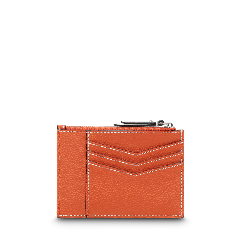 L Zip Card Holder - Papaya/Sunset Pink