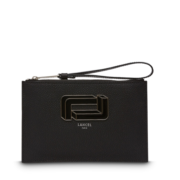 Zip Clutch - Black