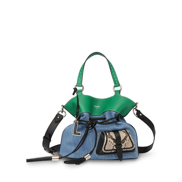 Bucket Bag M - Denim/Jungle Green