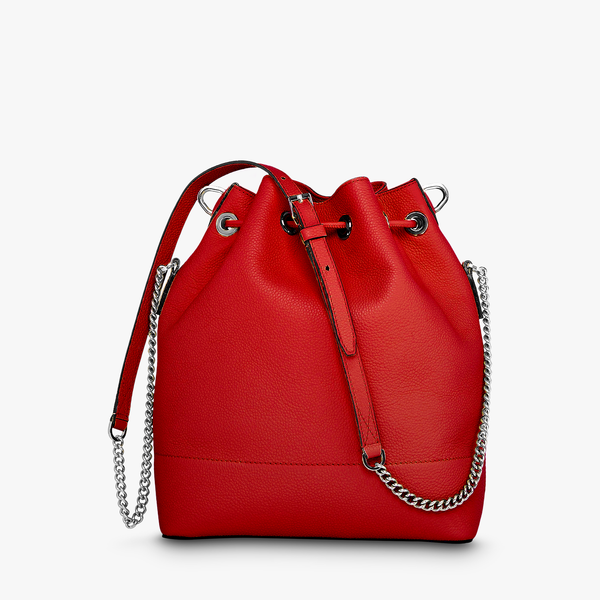 Bucket Bag M - Red Lancel