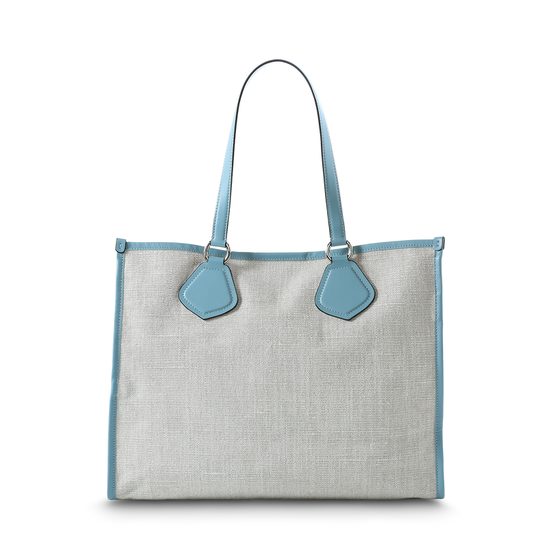 L Tote - Natural/Cloud
