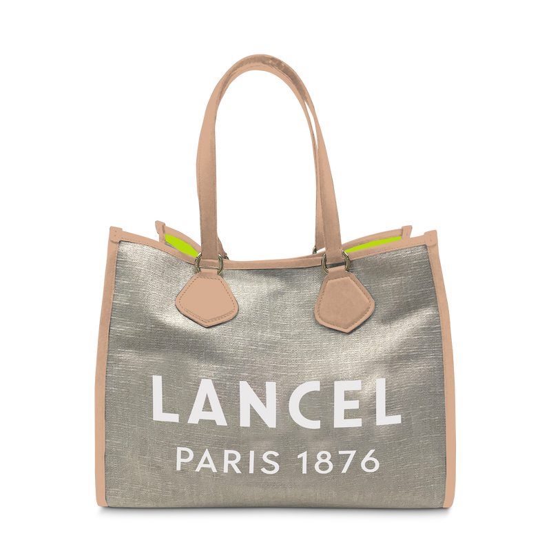 L Tote - Natural/Sunset Pink