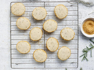 Rosemary Shortbread Cookies - A Good Story Foods
