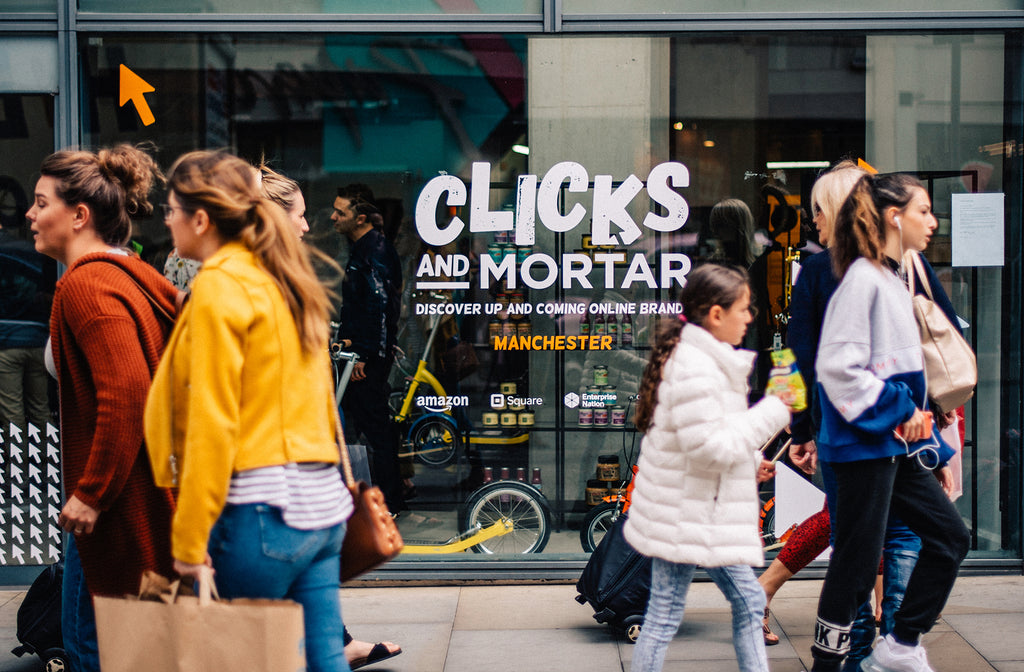 Clicks and Mortar Pop Up Store in Manchester