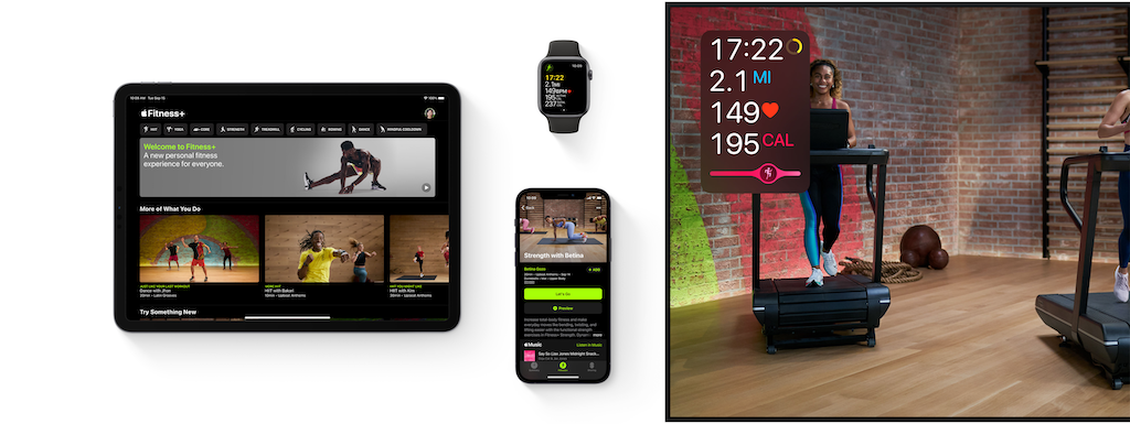 Apple Fitness+ on multiple devices