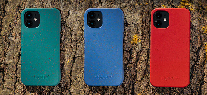 TORRO eco-friendly bumper cases in Green, Blue and Red